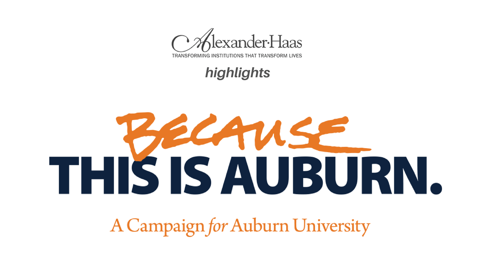 "Fundraising Client Highlight: ""Because This is Auburn"" Campaign"